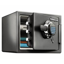 Fireproof Electronic with Key Lock Security Safe 0.8 CuFt
