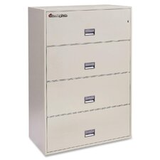 4-Drawer Fireproof Key Lock File Safe