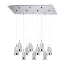 Luxe 10-Light LED RapidJack Pendant and Canopy