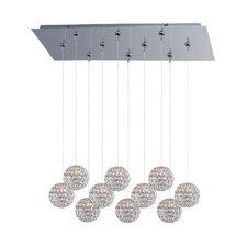 Brilliant 10 Light Cascade pendant