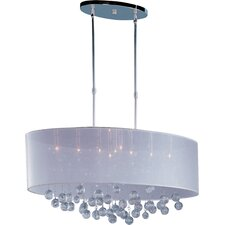 Veil 9-Light Crystal Kitchen Island Pendant