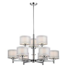 Recesso Double Organza 9 Light Chandelier