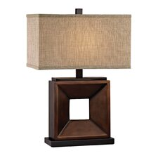 "22.75"" H Table Lamp with Rectangular Shade"