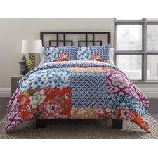 Multi Floral Patchwork 2 Piece California King Comforter Set