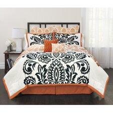 Solid Damask 6 Piece Comforter