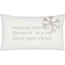 Tinsel Town One Horse Sleigh Lumbar Pillow