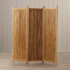 "Porter 63"" x 60"" 3 Panel Bamboo Room Divider"