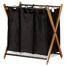 Bamboo 3 Bag Laundry Sorter
