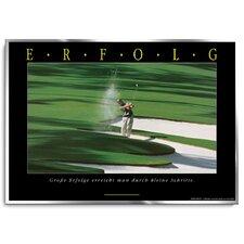 Erfolg Golf Poster