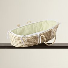 Leman Moses Basket with Waffle Bedding