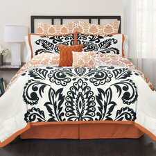 Solid Damask 6 Piece Comforter