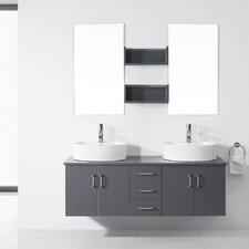 "Enya 59"" Double Bathroom Vanity Set with Mirror"