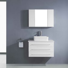 "Ivy 32"" Single Floating Bathroom Vanity Set with Mirror"