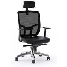 High-Back Leather Task Chair