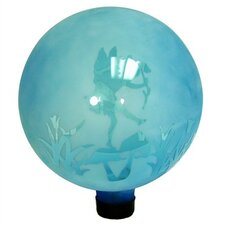 Etched Topaz Dancing Fairy Gazing Globe