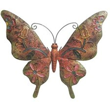 Rusted Metal Butterfly Wall Décor