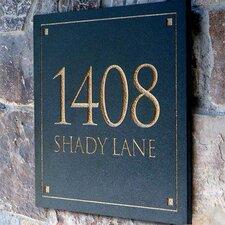 Engraved Stone Address Plaque