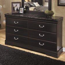 Esmarelda 6 Drawer Dresser with Mirror