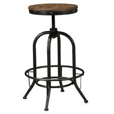 Pinnadel Adjustable Height Swivel Bar Stool (Set of 2)
