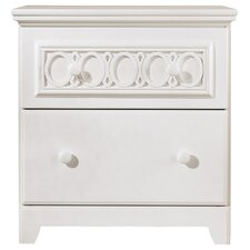 Zayley 2 Drawer Nightstand