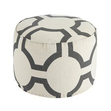 Traditional Geometric Pouf Ottoman