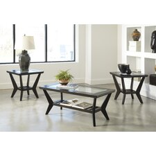 3 Piece Coffee Table Set in Brown