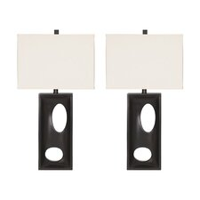 "Maxine 30.75"" H Table Lamp with Rectangular Shade (Set of 2)"