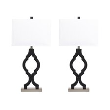"Rosetta 31.75"" H Table Lamp with Rectangular Shade (Set of 2)"