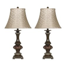 "Rosemary 31"" H Table Lamp with Bell Shade (Set of 2)"