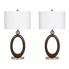 "MacKenzie 30"" H Table Lamp with Oval Shade (Set of 2)"