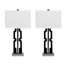 "Mitzi 29.5"" H Table Lamp with Rectangular Shade (Set of 2)"