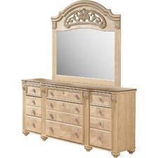 Saveaha 9 Drawer Dresser with Mirror