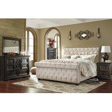 Willenburg Upholstered Sleigh Customizable Bedroom Set