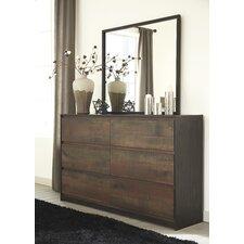 Windlore 6 Drawer Dresser with Mirror
