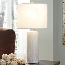 """Steuben 25.25"""" H Table Lamp with Drum Shade (Set of 2)"""