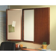 Sorrento Series Presentation Magnetic Enclosed Whiteboard, 4' H x 4' W