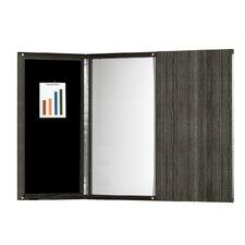 Medina Series Presentation Magnetic Enclosed Whiteboard, 4' H x 4' W