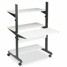 SOHO Adjustable Computer Table AV Cart