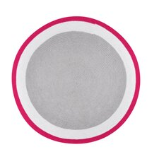 Trio Hand-Woven Pink/Gray Area Rug