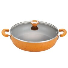 "Signature Porcelain Nonstick 12"" Skillet with Lid"