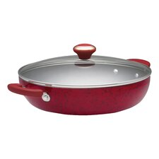"Porcelain 12"" Nonstick Skillet with Lid"