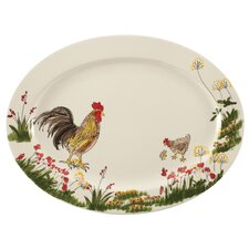 Southern Rooster Oval Platter