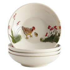"Southern Rooster 4.3"" Fruit Bowl (Set of 4)"