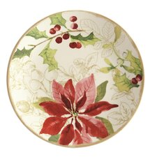 Signature Holiday Floral Salad Plate (Set of 4)