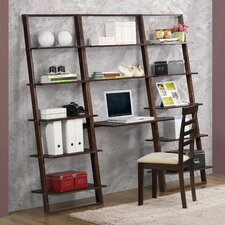 "Arlington 72.4"" Leaning Bookcases and Desk"