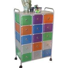 Storage and Organization 15-Drawer Storage Chest