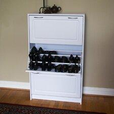 Triple 36-Pair Shoe Storage Cabinet