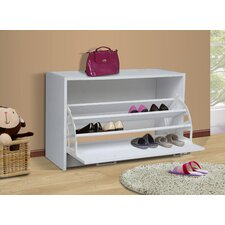Single 12-Pair Shoe Storage Cabinet