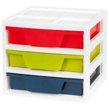 3 Drawer Activity Station with Organizer Top