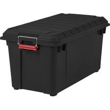 21.8 Gallon Weathertight Heavy Duty Storage Tote (Set of 4)